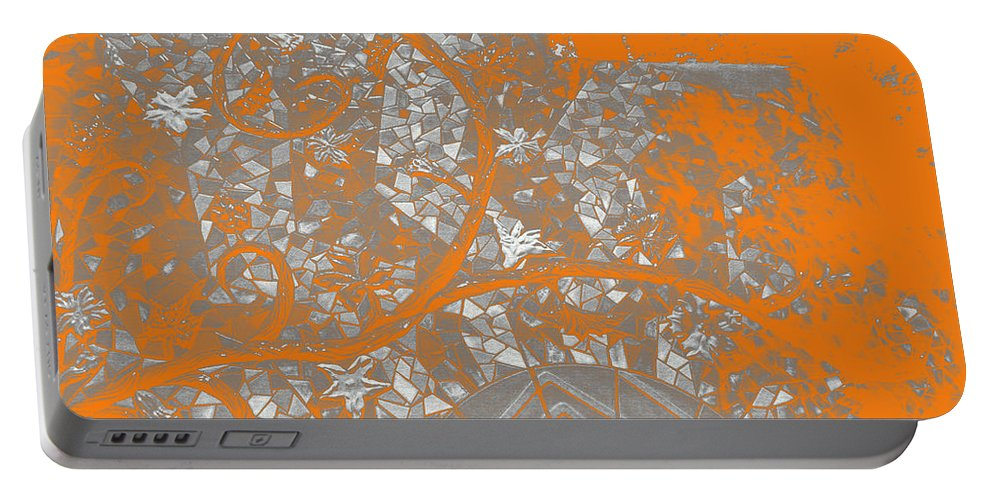 Mosaic Portable Battery Charger featuring the digital art Mosaic Sunrise					 by Lovina Wright