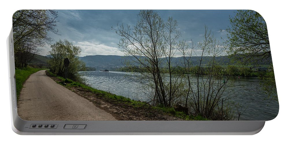 Autumn Portable Battery Charger featuring the photograph Moselle River by TouTouke A Y