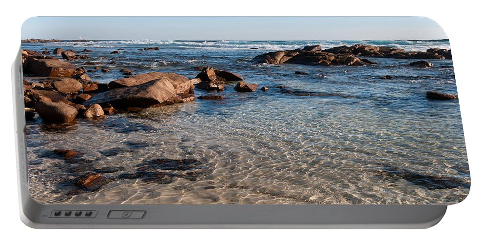 Australia Portable Battery Charger featuring the photograph Moses Rock Beach 04 by Rick Piper Photography