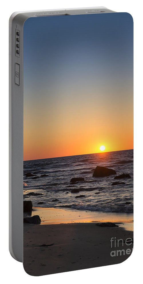 America Portable Battery Charger featuring the photograph Moshup Beach Sunrise by John Greim