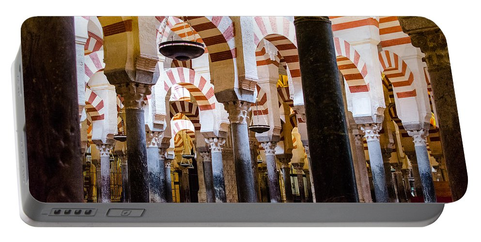 Cordoba Portable Battery Charger featuring the photograph Mosque Cathedral Of Cordoba by Andrea Mazzocchetti