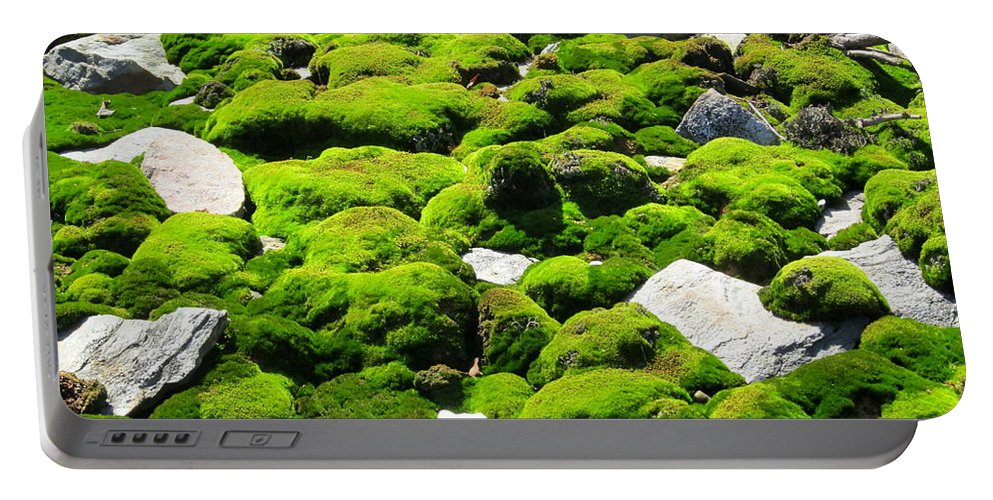 Mountain Moss Portable Battery Charger featuring the photograph Mosscape by Joshua Bales