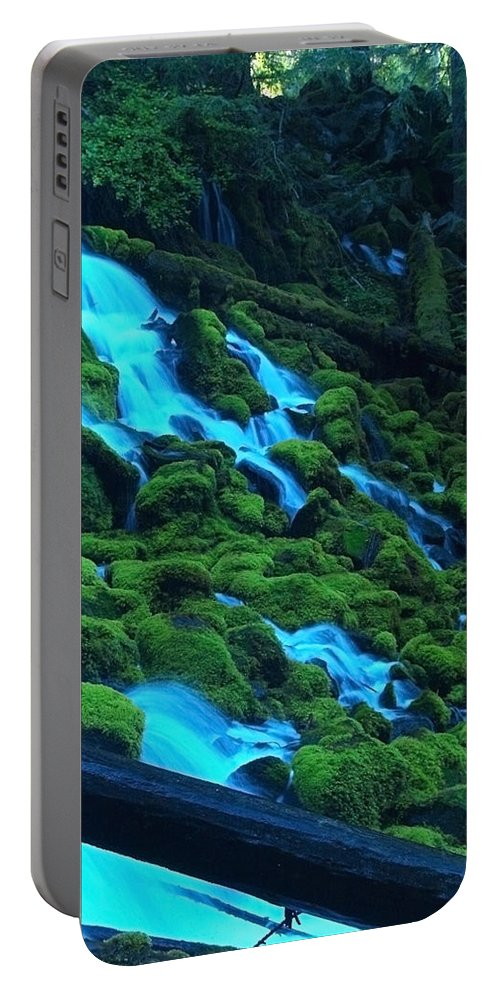 Water Portable Battery Charger featuring the photograph Mossy Rock City by Teri Schuster