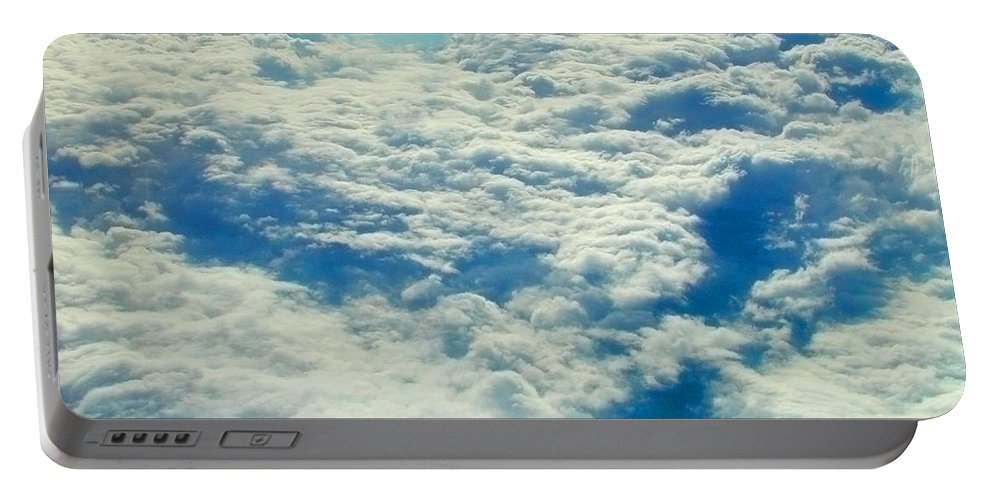 Aerial Portable Battery Charger featuring the photograph Mostly Cloudy by Mark Greenberg