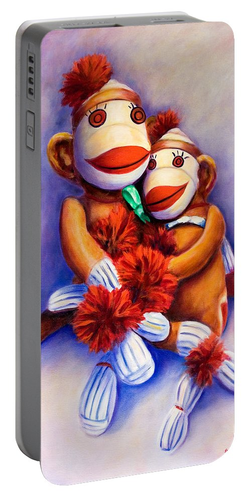 Children Portable Battery Charger featuring the painting Mother And Child by Shannon Grissom