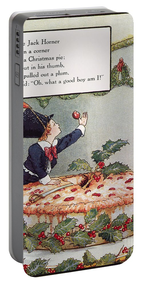 1915 Portable Battery Charger featuring the photograph Mother Goose: Jack Horner by Granger