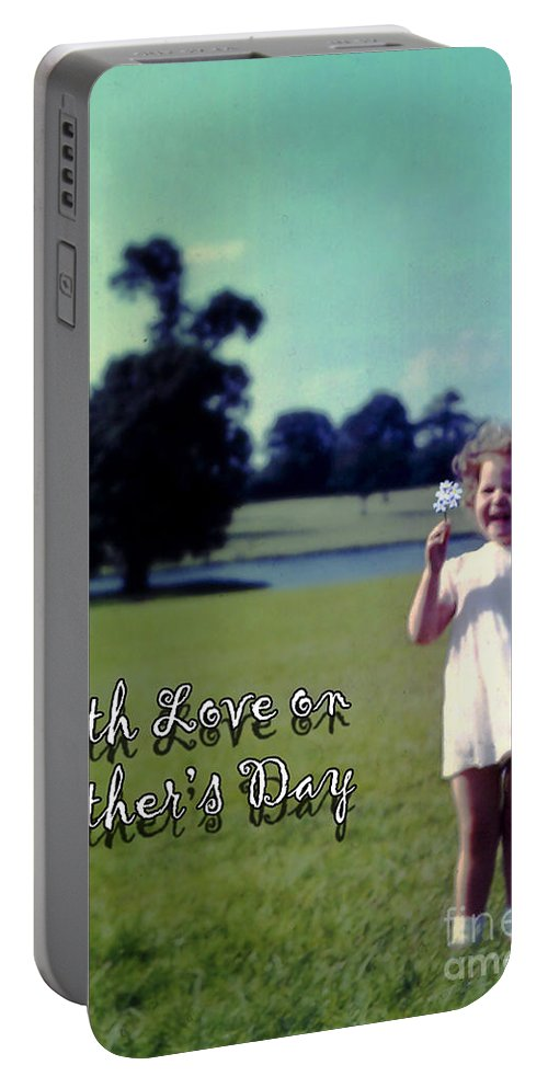 Card Portable Battery Charger featuring the photograph Mother's Day 1964 by Terri Waters