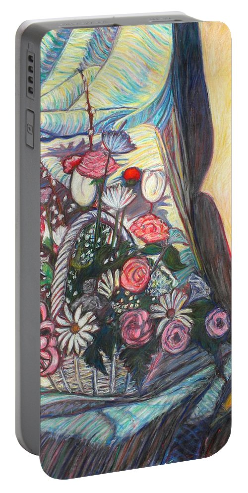 Still Life Portable Battery Charger featuring the painting Mothers Day Gift by Kendall Kessler