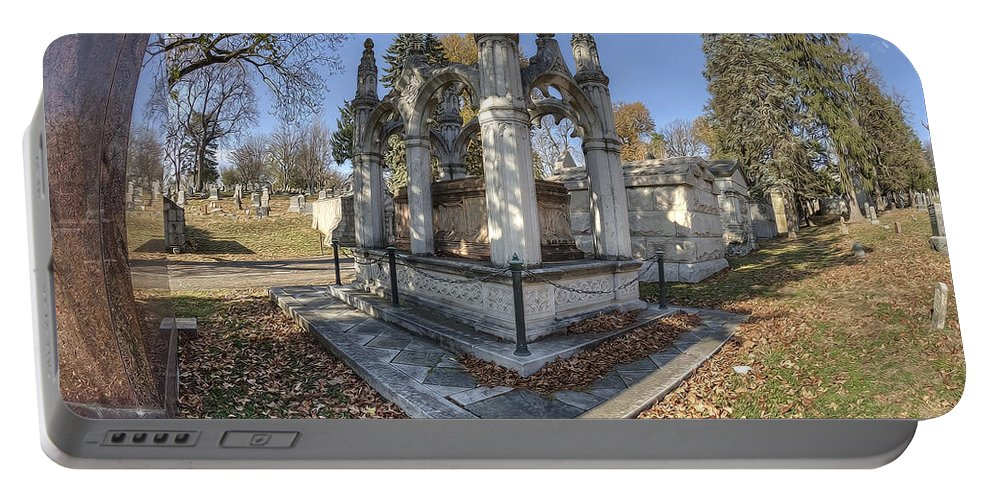 Mount Mora Cemetery Portable Battery Charger featuring the photograph Mount Mora Cemetery 2 by Liane Wright