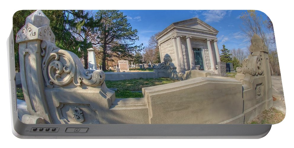 Mount Mora Cemetery Portable Battery Charger featuring the photograph Mount Mora Cemetery 3 by Liane Wright