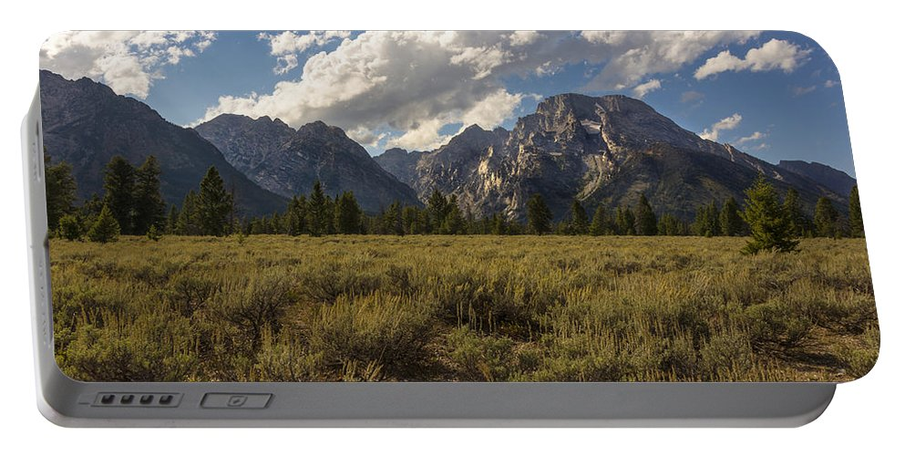 Mount Moran Grand Teton National Park Portable Battery Charger featuring the photograph Mount Moran - Grand Teton National Park by Brian Harig