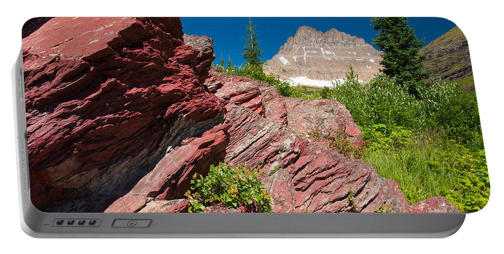 Glacier Portable Battery Charger featuring the photograph Mount Wilbur by Steve Stuller