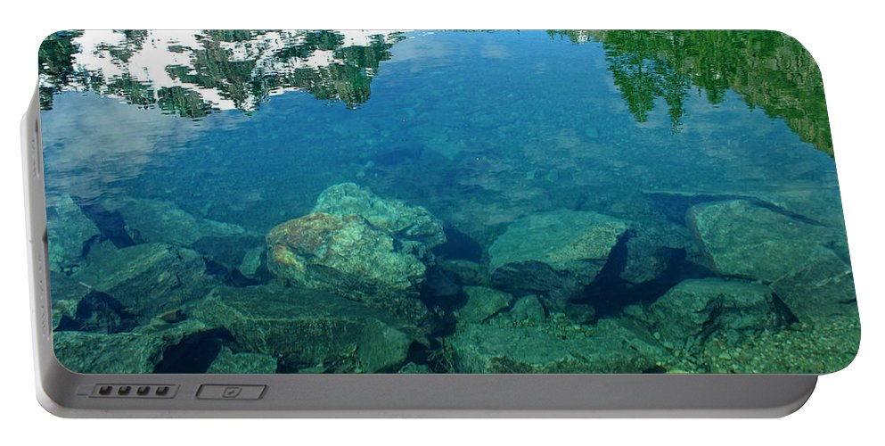 Lake Portable Battery Charger featuring the photograph Mountain Lagoon by Donna Blackhall