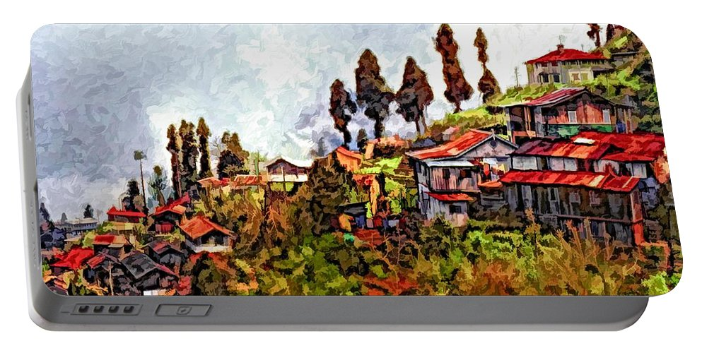 Darjeeling Portable Battery Charger featuring the photograph Mountain Living by Steve Harrington