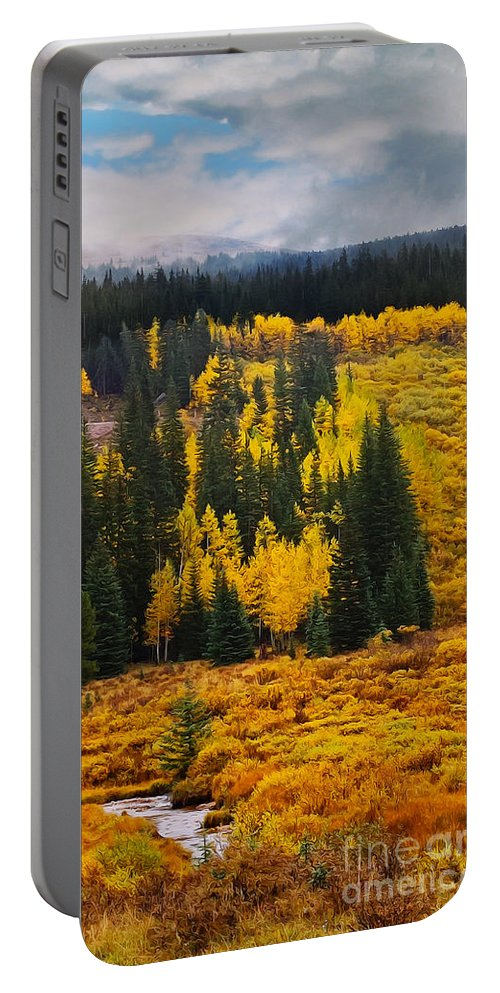 Mountain Portable Battery Charger featuring the photograph Mountain Meadows by Mary Machare