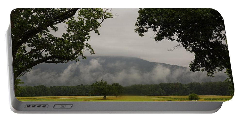 Early Morning Mountain Fog Portable Battery Charger featuring the photograph Mountain Mist by Jeffery L Bowers