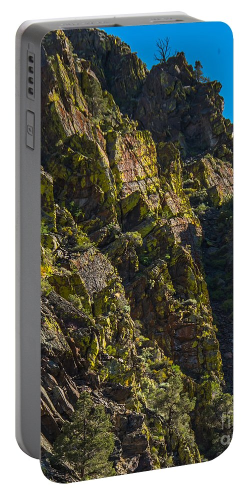 Mountain Portable Battery Charger featuring the photograph Mountain Side by Stephen Whalen