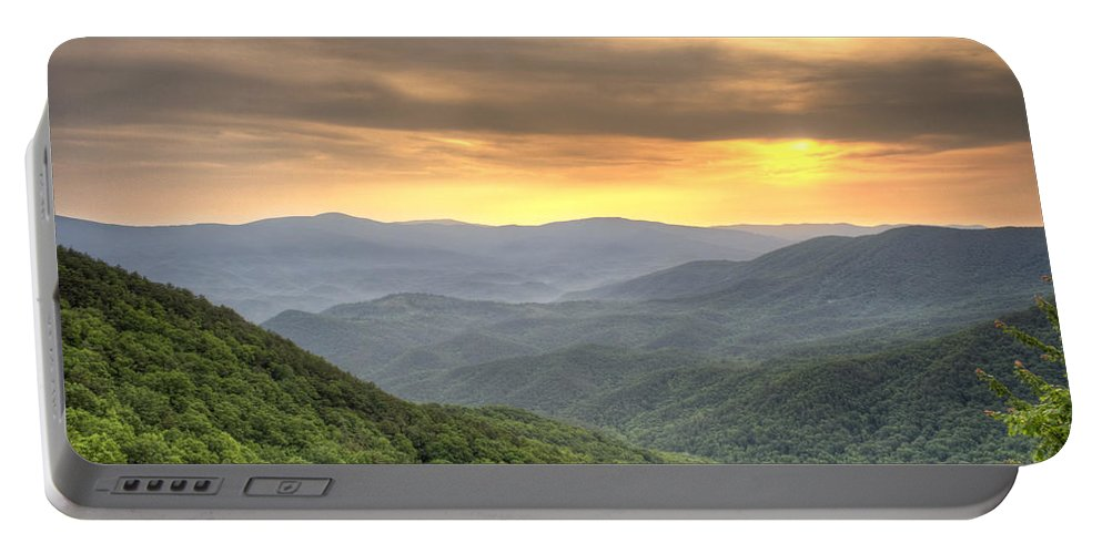 Appalachian Mountains Portable Battery Charger featuring the photograph Mountain Sunrise by David Troxel