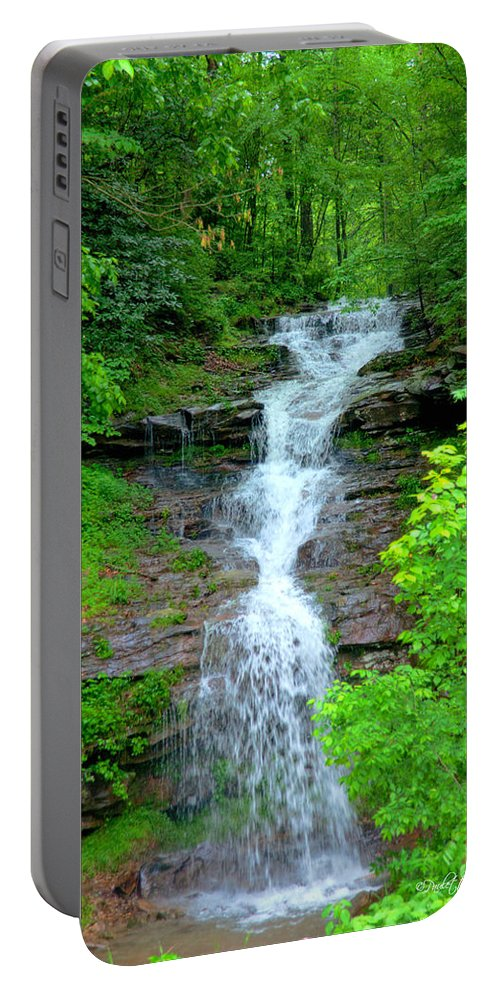 Popular Portable Battery Charger featuring the photograph Mountain Waterfall I by Paulette B Wright