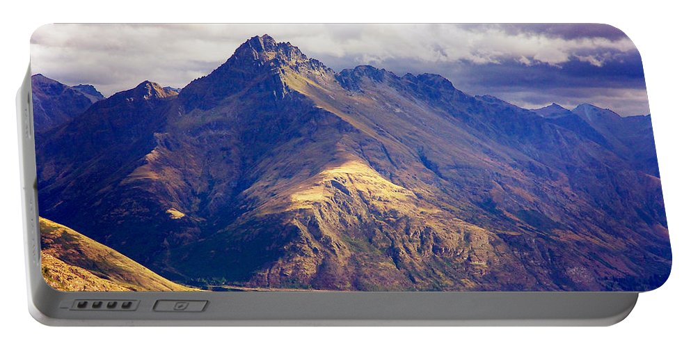 New Zealand Portable Battery Charger featuring the photograph Mountains Meet Lake #6 by Stuart Litoff