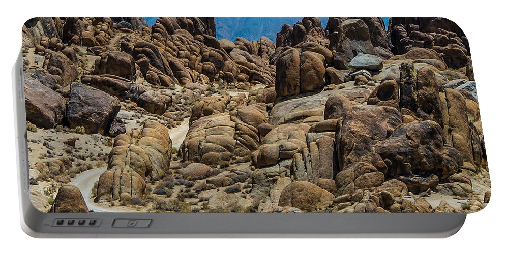 Alabama Hill Portable Battery Charger featuring the photograph Movie Road by Stephen Whalen