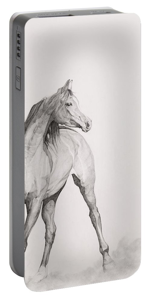 Animal Portable Battery Charger featuring the painting Moving Image by Emma Kennaway