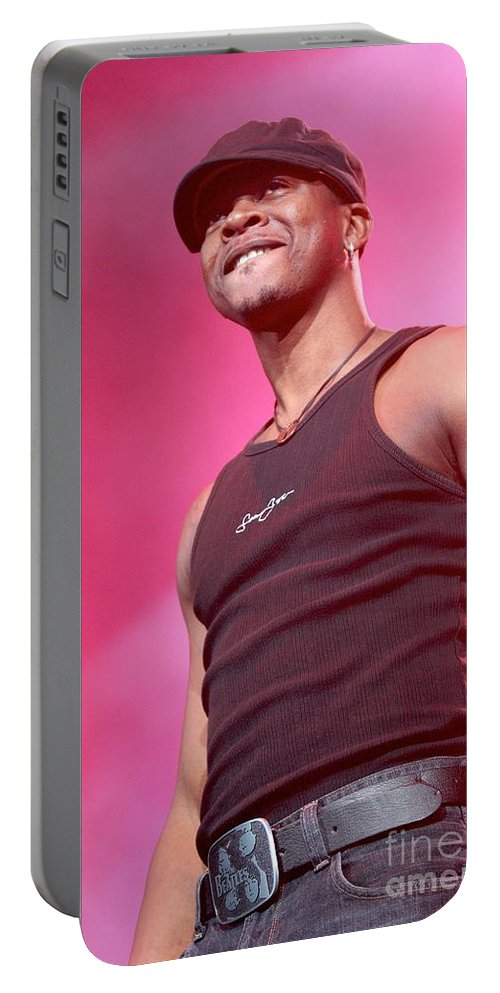 Performing Portable Battery Charger featuring the photograph Mr. Vegas by Concert Photos