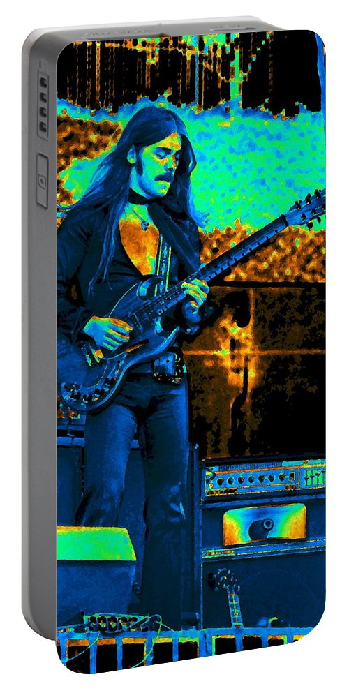 Frank Marino Portable Battery Charger featuring the photograph Mrdog #84 In Cosmicolors 1 by Ben Upham
