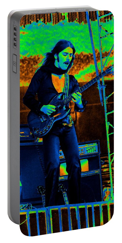 Frank Marino Portable Battery Charger featuring the photograph Mrdog #87 In Cosmicolors 2 by Ben Upham