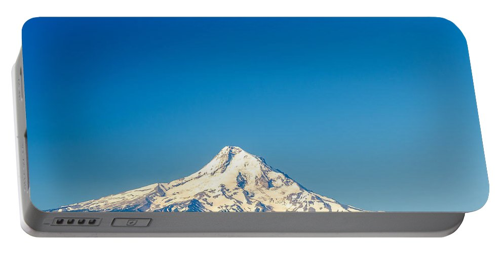 Mountain Portable Battery Charger featuring the photograph Mt. Hood And Blue Sky by Jess Kraft