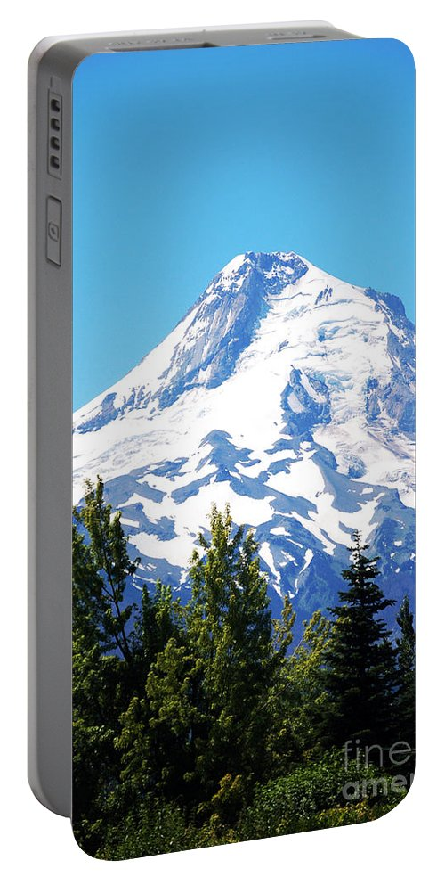 Oregon Portable Battery Charger featuring the photograph Mt. Hood Oregon by Flamingo Graphix John Ellis