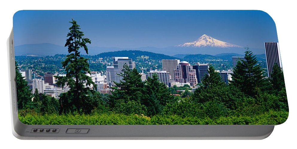 Photography Portable Battery Charger featuring the photograph Mt Hood Portland Oregon Usa by Panoramic Images