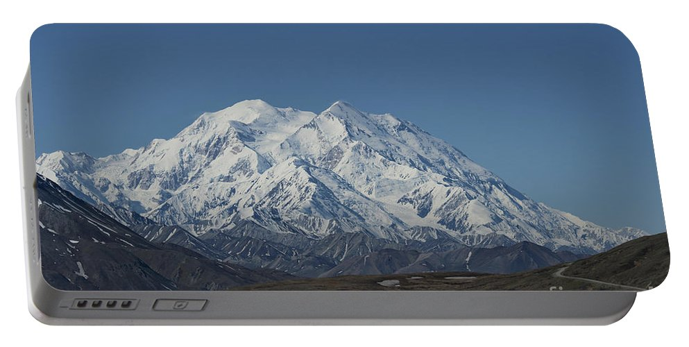 Mountain Portable Battery Charger featuring the photograph Mt Mckinley by David Arment