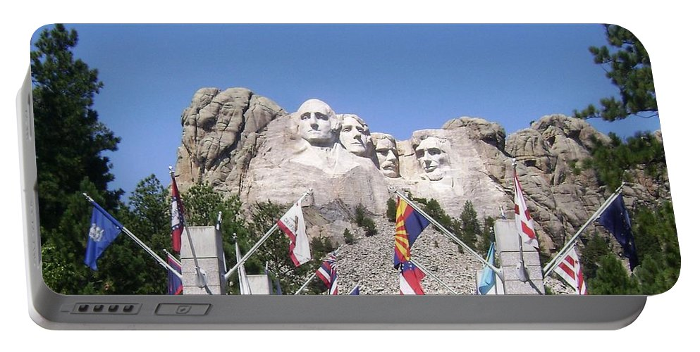 Portable Battery Charger featuring the photograph Mt. Rushmore by Mike Niday