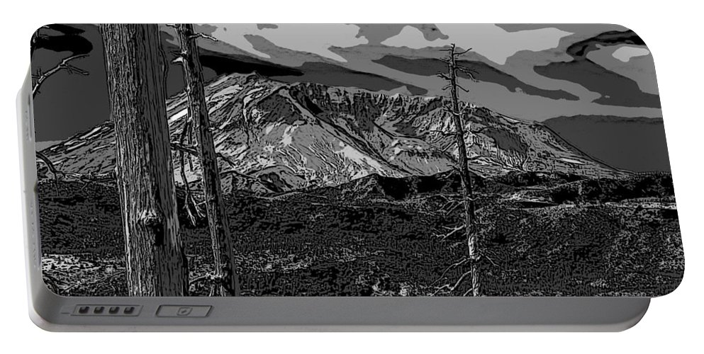 St. Helens Portable Battery Charger featuring the photograph Mt St Helens by David Gleeson
