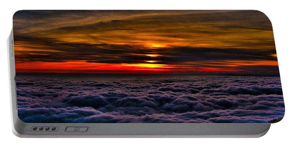 Mount Wilson Portable Battery Charger featuring the photograph Mt Wilson Sunset 2 by Richard J Cassato