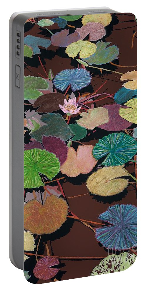 Landscape Portable Battery Charger featuring the painting Muddy Waters by Allan P Friedlander