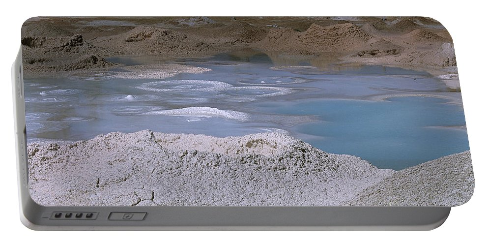 Yellowstone Portable Battery Charger featuring the photograph Mudpots Area I I I by Sharon Elliott