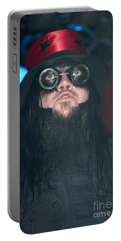 Guitarist Portable Battery Charger featuring the photograph Mudvayne by Concert Photos