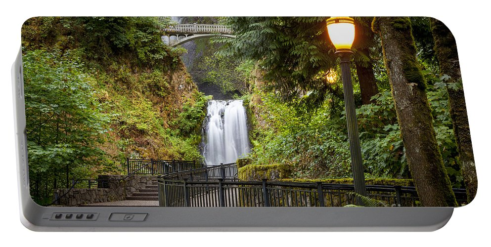 America Portable Battery Charger featuring the photograph Multnomah Falls by Brian Jannsen