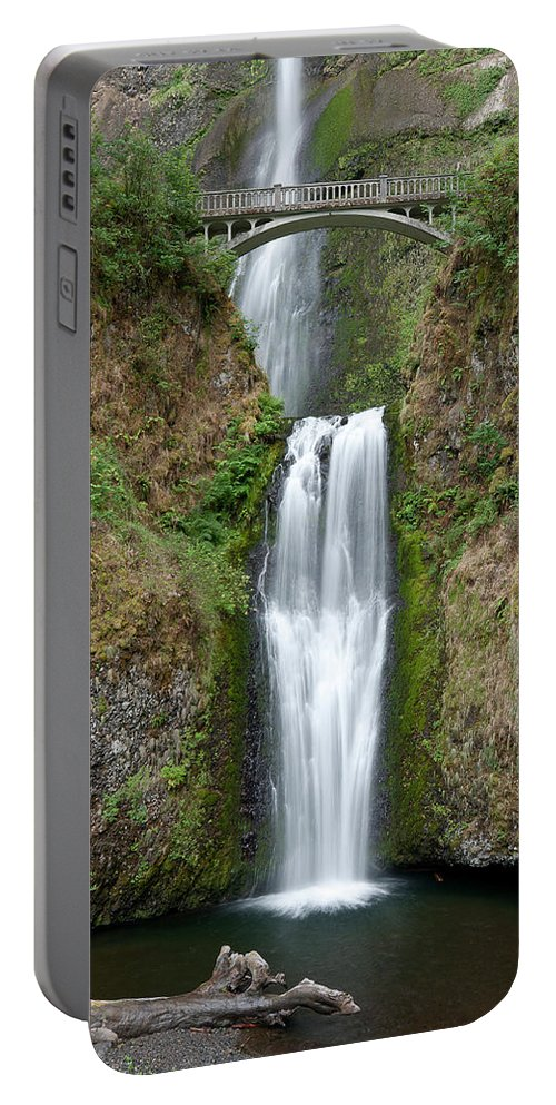 Multnomah Falls Portable Battery Charger featuring the photograph Multnomah Falls by Greg Nyquist