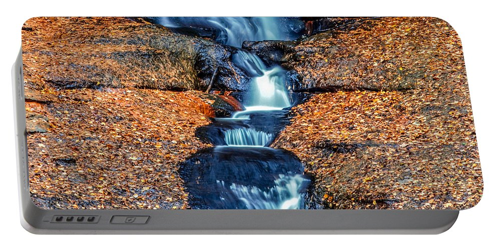 Optical Playground By Mp Ray Portable Battery Charger featuring the photograph Munising Falls I by Optical Playground By MP Ray