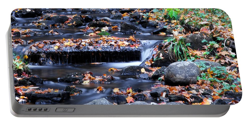 Optical Playground By Mp Ray Portable Battery Charger featuring the photograph Munising Falls II by Optical Playground By MP Ray