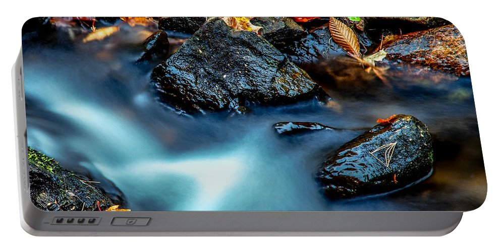 Optical Playground By Mp Ray Portable Battery Charger featuring the photograph Munising Falls IIi by Optical Playground By MP Ray