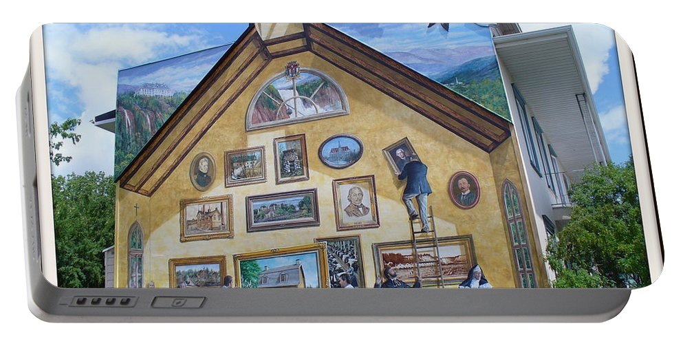 Quebec City Portable Battery Charger featuring the photograph Mural In Beaupre Quebec by Lingfai Leung