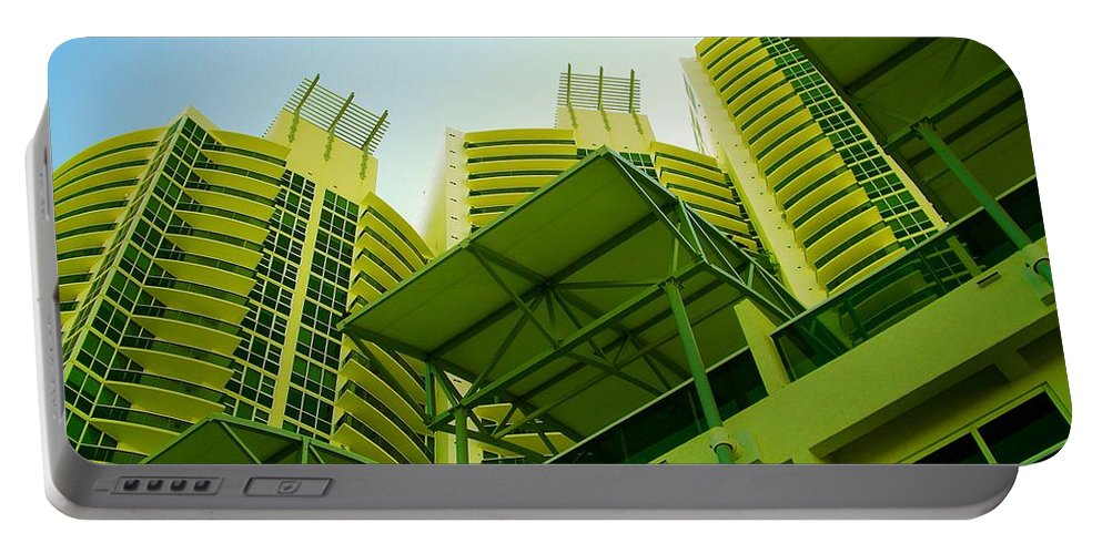Portable Battery Charger featuring the photograph Murano Grande, Miami II by Monique's Fine Art