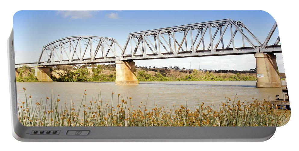 Bridge Portable Battery Charger featuring the photograph Murray Bridge by Tim Hester