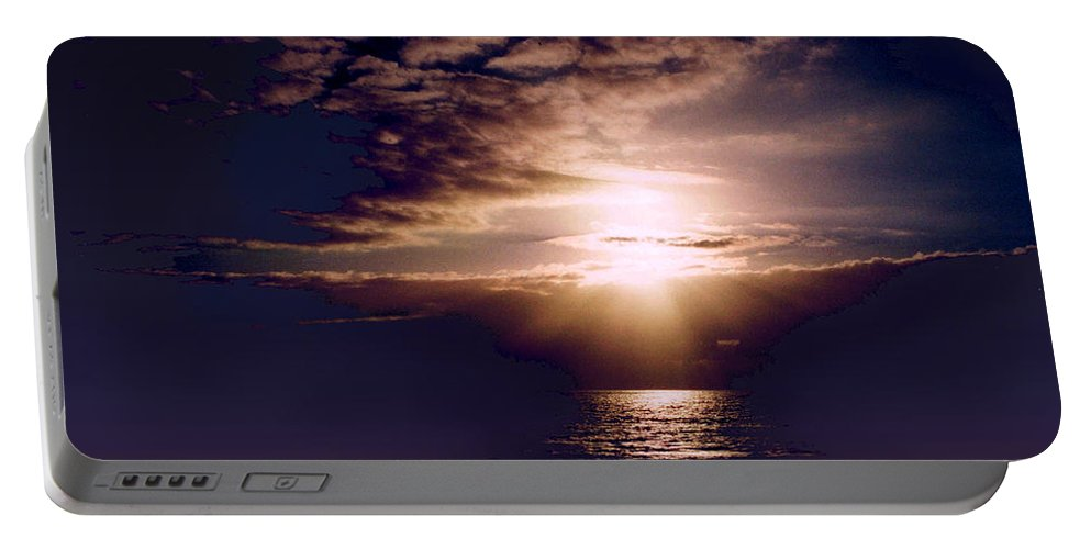 Seascape Portable Battery Charger featuring the photograph Mushroom by Steve Karol