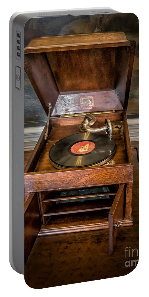 78 Rpm Portable Battery Charger featuring the photograph Music Box by Adrian Evans