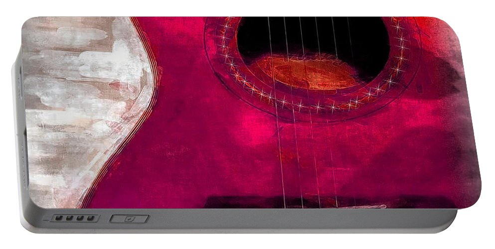 Guitar Portable Battery Charger featuring the painting Music Time by Ericamaxine Price